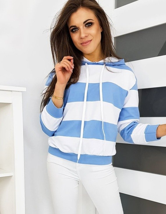 dresowa bluza damska w paski
